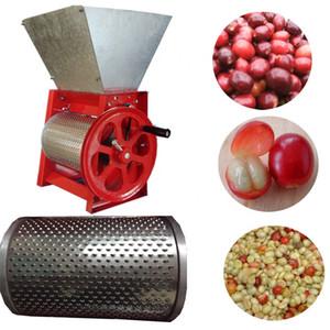 huller máquina de café en grano fresco de la máquina trituradora de tipo manual grano de café grano de café pequeña máquina de pelar