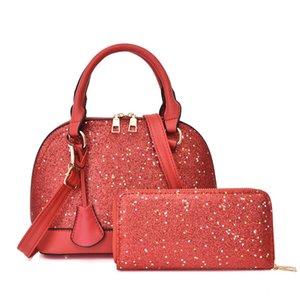 Leather Shoulder Ladies Tqrjt Handbags 6 Composite Wallet Womens Color Designer Clutch With PU Bags Tote Purse Htwmn