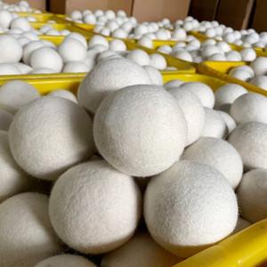 Lana Nueva caliente bolas del secador de alta calidad reutilizable natural suavizante de telas 7cm 2.75inch reduce la estática ayuda a secar la ropa en la lavandería más rápido