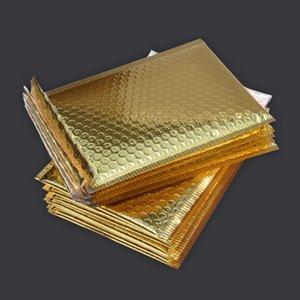 40Pcs Blase Porto Versandtaschen Briefumschläge Paket Geburtstage helle Oberfläche Geschenke Tasche 15X13Cm + 4cm (Rose Red)