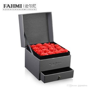 FAHMI New High-Quality Jewellery Set Box Boutique Jewelry Gift Box Rose Flower Jewelry Noble Gift Box a
