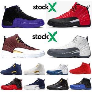 Immagini X 12 12s uomini scarpe da basket FIBA scuro Concord Winterized WNTR Università di Gioco Gold Reali influenza gioco mens atletici scarpe da ginnastica di sport