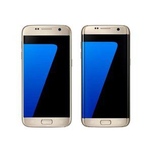 Original Samsung Galaxy S7 Borda G935F G935A G935T G935V G935P Recuperado 5,5 polegadas Quad Core 4GB RAM 32GBROM 12MP 4G LTE Celular