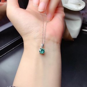 crackling moissanite necklace for women silver jewelry gem shiny better than diamond real 925 silver girl birthday gift date