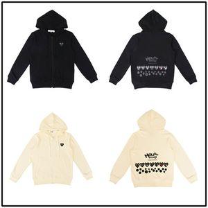 패션 새로운 가을 얇은 폴카 도트 후드 심장 인쇄 코트 조깅 운동복 풀오버 블랙 화이트 스웨터 후드