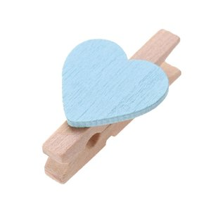 50pcs Love Wood Clips Beautiful Mini Fixation Clip for Photo Card Painting Clothespin Craft Decoration Pegs Memo Paper Clips