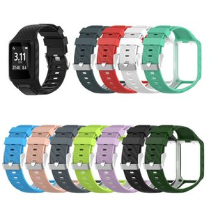 2 in 1 Silicone Replacement Wrist Band Strap With Frame for Tomtom Runner 2 3 Spark 3 GPS Golfer Smart Watch Sports Bands Strap for TOMTOM