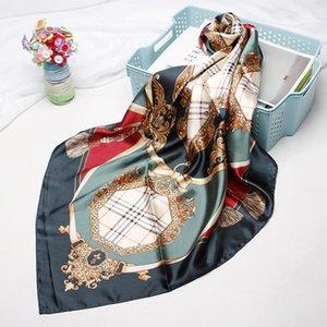 2019 new fashion elegant ladies square scarf silk scarf shawl manufacturer 90 * 90cm