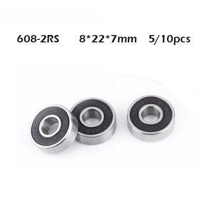 5 10Pcs set 608 2RS Ball Bearing ABEC-1 8X22X7 mm Deep Groove Steel Sealed Ball Bearings 608RS Z3V3 608-2RS 608rs Bearing