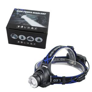 XML T6 Q5 светодиодный фонарь Фара головного света Свет фонарика 18650 Факел Кемпинг Рыбалка Перезаряжаемый фонарь