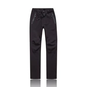 Hombres de invierno Senderismo Negro Al aire libre nuevo estilo Pantalones térmicos a prueba de viento Caminatas de invierno urdoor pantalones de camping