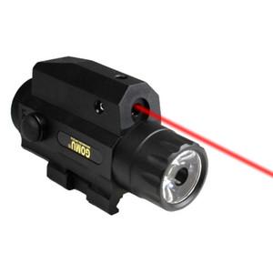 التكتيكي التخييم AR15 مصباح يدوي الليزر الشعلة مع أحمر البصر بالليزر بندقية التحرير والسرد مصباح يدوي