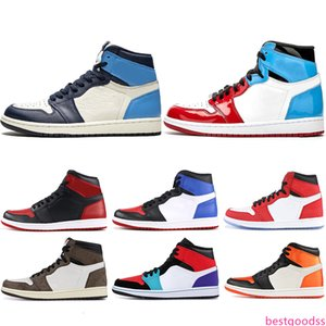 1 High OG Basketball shoes UNC 1s Top Men Homage To Home Royal Blue Mens Trainers Sport Designer Sneakers Size 36-46