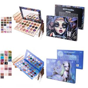Yeni Cadı Mermaid Göz Farı Paleti 28 renk Pırıltılı Göz farı Paleti Su Geçirmez Uzun ömürlü Sequins Göz Farı Gözler Kozmetik
