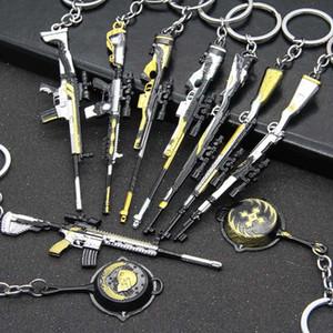 Новая коллекция Jedi Выживание брелок Подвеска Подвеска Eating Chicken металла игры Периметр пистолет оружие Модель 98K Key Chain Модель