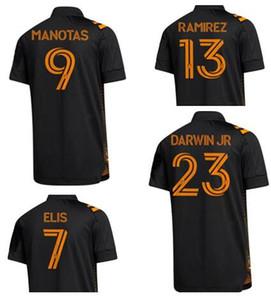 Sur mesure 20-22 HOUSTON DYNAMO 23 Darwin Jr 7 Elis 9 Manotas 13 Ramirez Thai qualité Soccer Jersey Chemises haut maillots de vêtements fan de football