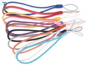 Ronda de Nylon Muñeca Mano Teléfono Celular Móvil Cadena Correas Llavero Cámara USB MP4 Charm Cords DIY Cuerda Colgar Cordón 800 unids / lote