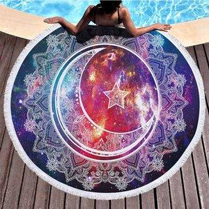 Мандала Вселенная звездное небо слон круглый пляжное полотенце 150 см слон пляжное полотенце из микрофибры полотенца салфетка де пляж