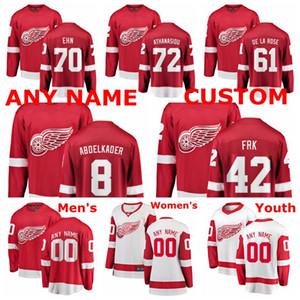 Detroit Red Wings jerseys Justin Abdelkader Jersey Andreas Athanasiou Jacob de la Rose Christoffer Ehn Martin Frk de hockey sobre hielo de los jerseys Stitced