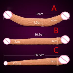 Doble dong lesbiana sexo opcional para C18112801 Dildos largos Gay tamaño doble Dildo Realistic Penis 3 Dildos Mujeres enormes juguetes