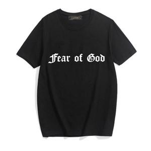 20ss hombre del diseñador hombres de la camiseta de la moda FG esenciales impresión de la letra Camiseta básica del O-cuello del estilo de la calle camiseta de algodón para el hombre DHBOMC192