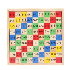 Motivo Moltiplicazione Tabella Math Toys 10x10 doppio lato stampato Consiglio di legno variopinto Figura Block bambini della novità Articoli A049