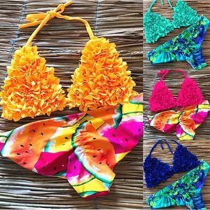 Frauen New Print Bikini Set Push Up Swimwear Brasilien Biquni Sexy Tropical Beachwear-Badeanzug Frauen Neue Bikini-Bade Bademode Y200319