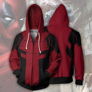 Marvel Series Deadpool 3D Print Cosplay Costume Hoodies 01 Men sweatshirt Material Hooded With Zipper Superhero Loose and Comfortable