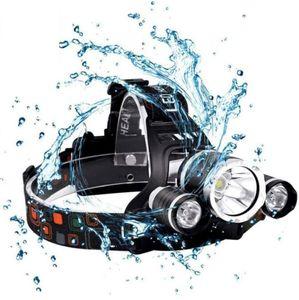 3 led aircraft headlamp high power CREE t6 headlights 4 mode 18650 battery 5000lm rechargeable head lights flashlight