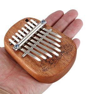 Gecko 8 tasti dito Kalimba Thumb Piano portatile principianti tastiera Marimba strumento musicale di legno