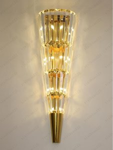 Modern wall lamp crystal light  Nordic living room decoration hotel LED lights Free shipping