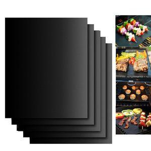 Антипригарное барбекю гриль Mat 40 * 33см выпечки Мат тефлоновые Cooking Grilling Лист Теплостойкость легко чистится Кухонные инструменты CCA12210 60pcs