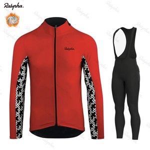 Ralvpha Pro Cycling Team Jersey thermique d'hiver d'homme en molleton à vélo Vêtements de vélo Pant Set VTT Ropa Ciclismo Maillot Wear
