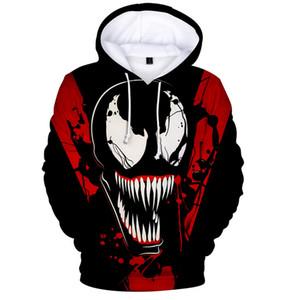 New Arrive Marvel 영화 네트워크 Venom Carnage Hoodies 남성 여성 3D 인쇄 패션 하라주쿠 Streetwear 스타일 Unisex tracksuit 탑스 Y62