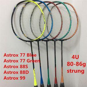 Racchetta da volano Astrox 77 88 99 4U Strung Badminton Racchette Astrox Serie racchetta Astrox 88