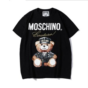 2 Yaz erkek Severler tasarımcı t shirt Harajuku streetwear yeni ürün Klasik Alfabe Ayı Dijital Baskı t-shirt Gelgit Marka açık sp