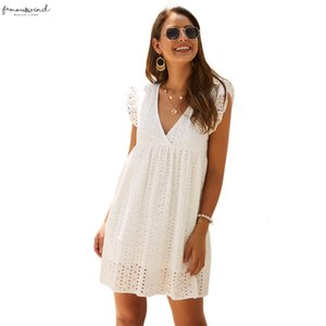 Women Dress New Fashion Woman Clothes New Original Design V Neck Loose Casual Lace Summer Dress Free Shipping Good Quality