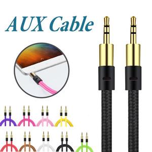 Braid 3,5-mm-Zusatzkabel Stecker auf Stecker AUX-Kabel Stereo-Audiokabel Car Audio Kopfhörerbuchse PC iPad ohne Paket