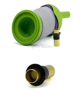 portable al por mayor de plástico estiramiento oruga cachimba de Shisha estiramiento fumadores Mini Bong plataformas petrolíferas percolador tuberías de agua pelele