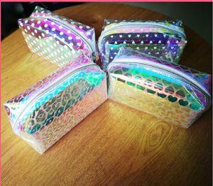 Женщины макияж сумка Pink Laser Travel Косметическая сумка туалетных Wash Чехол Beauty Box Zipper Конструктор Make Up Organizer Сумочка чехол для хранения