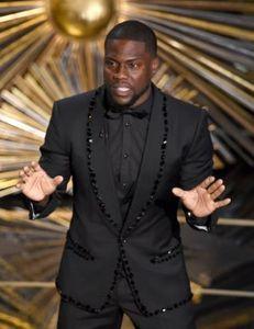 2018 Son Pantolon Ceket Tasarım Siyah Slim Fit Düğün Mens Suit Balo Suits 2 Adet (Ceket + Pantolon + Kravat) Damat Balo Smokin Erkekler Suit