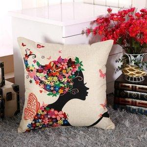 Kissenbezug Blume Tree of Life Dekokissen Fall Marokko Kissenbezug für Sofa Dekorative Kissen