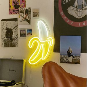 Banana neon sign LED neon art wall decoration lamp neon light is suitable for Christmas room wall children's bedroom birthday party bar10086