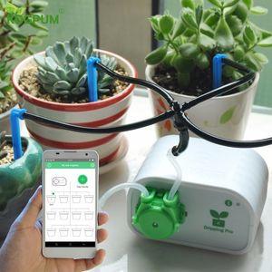 Cep Telefonu Kontrolü Akıllı Bahçe Otomatik Sulama Kontrol Kapalı Bitkiler Damla Sulama Cihazı Su Pompası Zamanlayıcı Sistemi C19041901