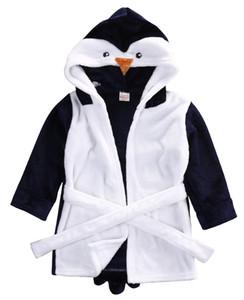 Infant Robes Cartoon Tout-petit bébé fille Vêtements garçons Serviette de bain molleton à capuche pour enfants Wrap Peignoir Animal Design