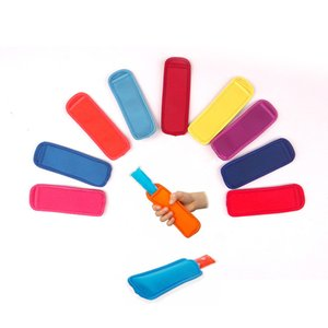 Reusable Popsicle Bags Ice Pop Sleeves Antifreezing Sleeves Summer Cool Ice Ice Lolly Sleeve Protector Tools For Party DLH357