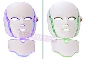 PDT فوتون 7 لون LED الرقبة قناع الوجه الجزئي الحالي LED فوتون قناع إزالة التجاعيد حب الشباب تجديد الجلد الوجه الجمال MACCHINE