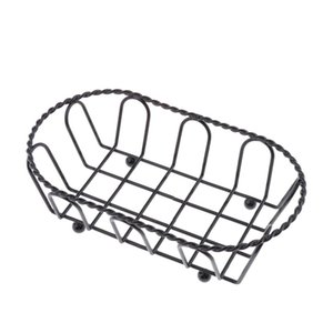 Snack Serving Basket French Fries Chips Dish Party Supplies Black
