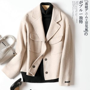 2020 Double-sided 100% Wool Coat Women Korean Female Jacket Short Coats and Jackets Women Overcoat Manteau Femme 200 KJ4073