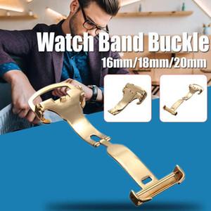 CIGA Diseño bajo Precio Oro 16mm 18mm 20mm despliegue de acero inoxidable reloj de la correa de la hebilla de la correa de reloj herramienta de reparación